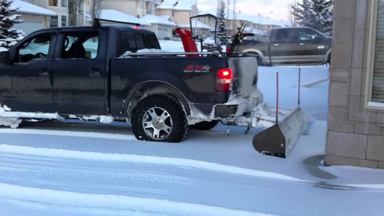 Rear Snow Plow On Ford F 150 Youtube
