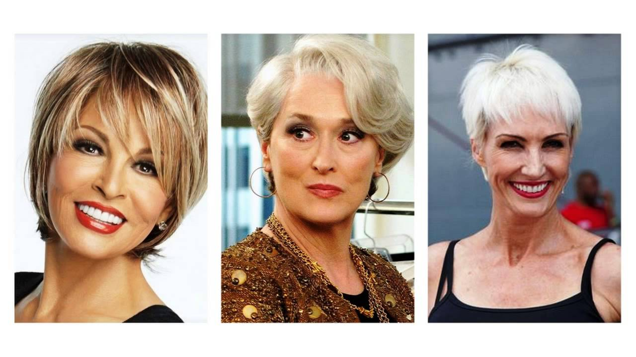 Short Hairstyles For Women Over 50 YouTube