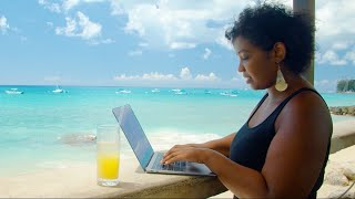 Digital Nomads are making the move to live and work from paradise with the Barbados Welcome Stamp!
