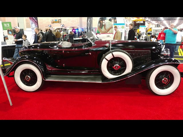 1933 BLACK AUBURN V12 12 165 SPEEDSTER CONVERTIBLE @ PHILADELPHIA CONVENTION CENTER CAR SHOW