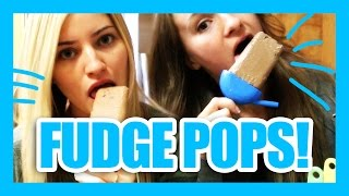 How To Make Healthy Fudge Popsicles! | iJustine Cooking