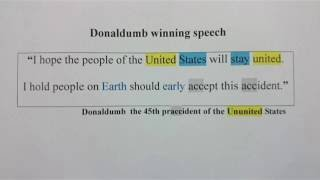 Donaldumb winning speech