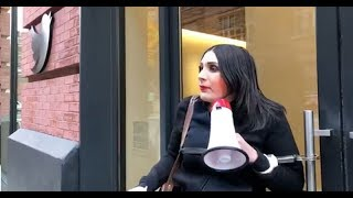 WATCH LIVE NOW: LAURA LOOMER HANDCUFFS HERSELF TO TWITTER'S NEW YORK HEADQUARTERS