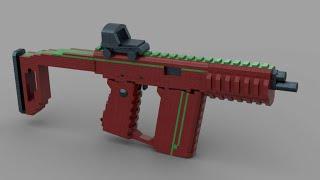 Custom Lego Gun MOC: Lynx .22 Vector SMG V17