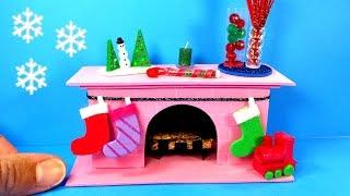 DIY Miniature Fireplace - Christmas Holiday Crafts