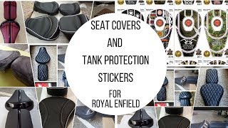SEATS | SEAT COVERS | TANK PROTECTION STICKERS | FOR ROYAL ENFIELD