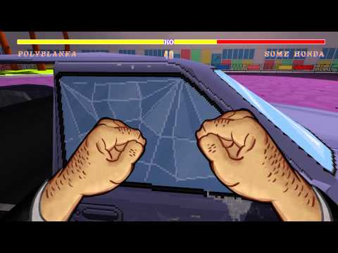 Jazzpunk gameplay - car fight