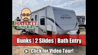 Used 2013 Jayco Jay Flight 32BHDS Double Slide Bunkhouse Bath Entry Travel Trailer