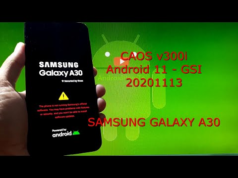 CAOS v300i Android 11 GSI for Samsung Galaxy A30 - 20201113