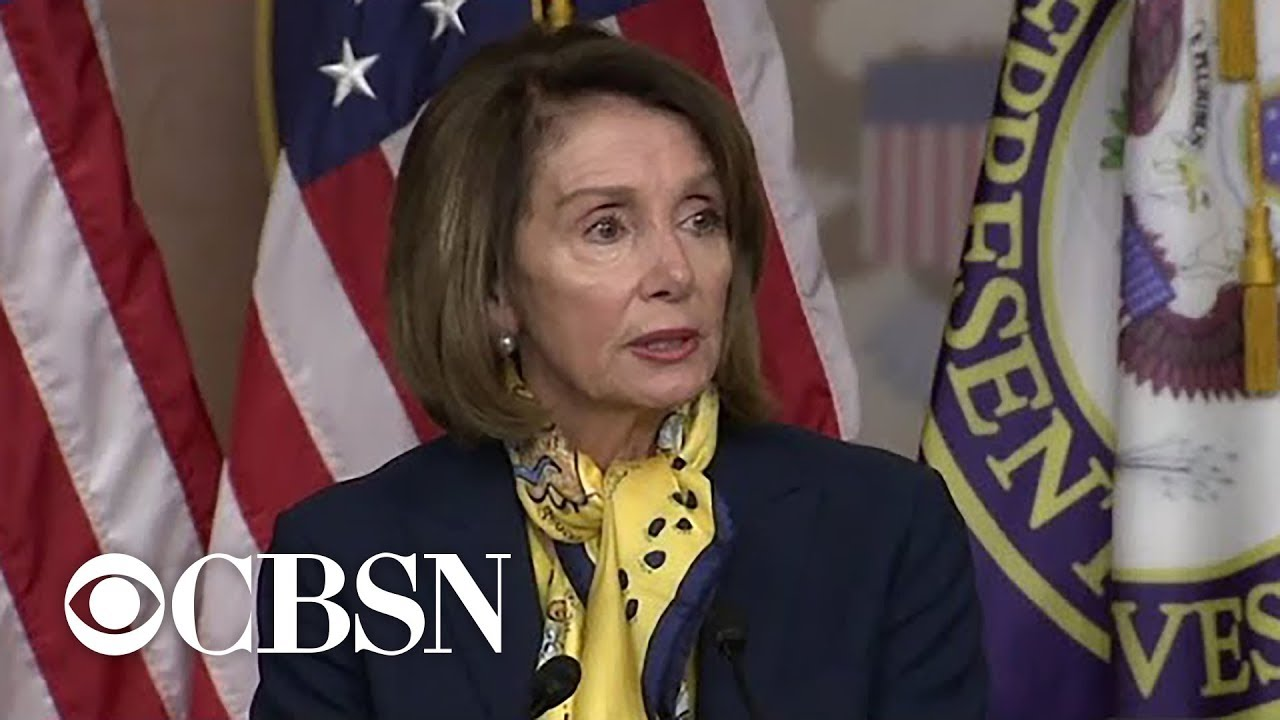 "Nancy Pelosi says State of Union ""off the table,"" urges end to shutdown"