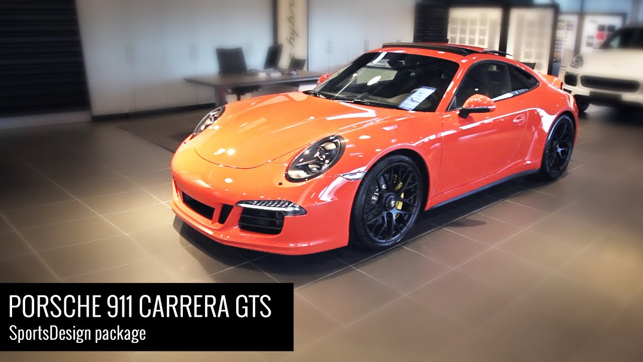 2016 porsche 911 991 carrera gts with ducktail spoiler showroom video with sports exhaust. Black Bedroom Furniture Sets. Home Design Ideas