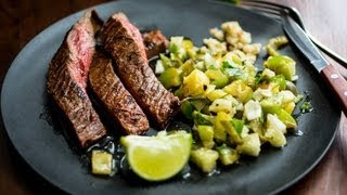 Steak with Tomatillo-Pineapple Salsa - Melissa Clark Cooking