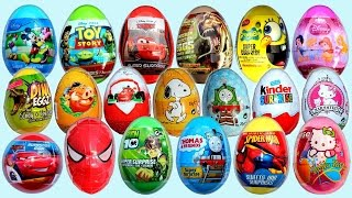 Surprise Eggs Opening Kinder Surprise Frozen Disney Pixar Cars Mickey Minnie Mouse NEW