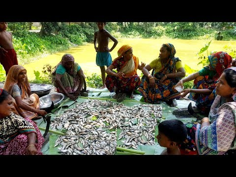 Tiny Country Fish Curry Cooking – Huge Onespot Barb & Vegetables Mixed Curry For Villagers