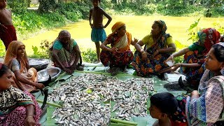 Tiny Country Fish Curry Cooking - Huge Onespot Barb & Vegetables Mixed Curry For Villagers