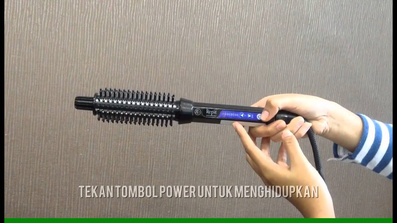 Cara Menaikan Dan Menurunkan Suhu Repit Brush Iron Size 222632mm Curling