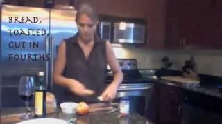 Sauteed Kale And Chevre Crostini