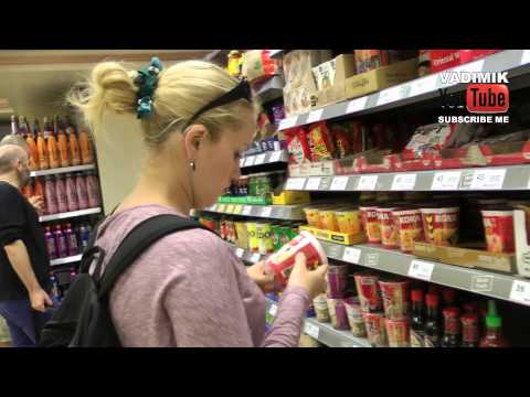 SHOPPING IN TESCO MARKET (London) (HD)