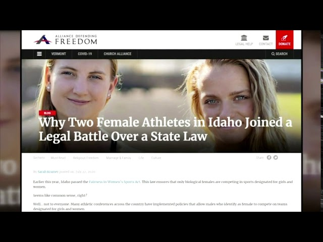 """Biden's New Executive Order on """"Gender Identity"""" a Setback for all Female Athletes"""