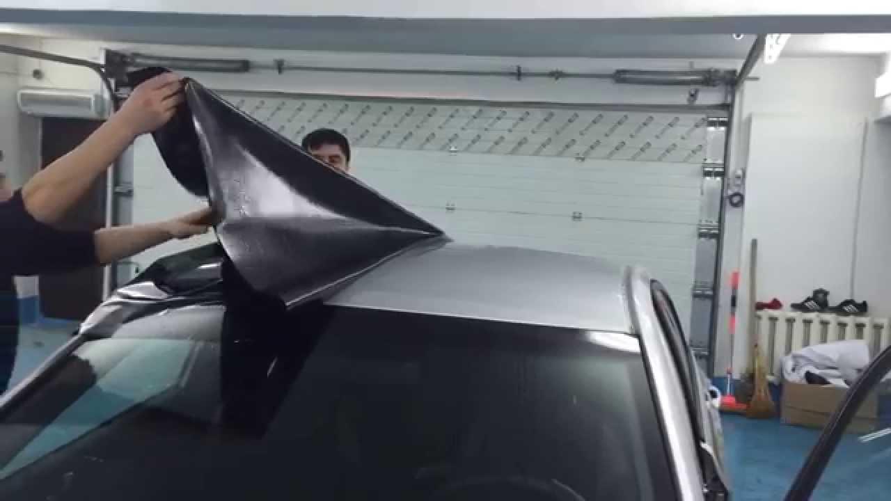 Пленка глянцевая черная для авто www.g2r.ru - YouTube