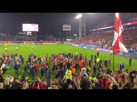 Toronto FC vs Montreal - Nov 30 2016 - After Game (Players celebration at supporters sec)