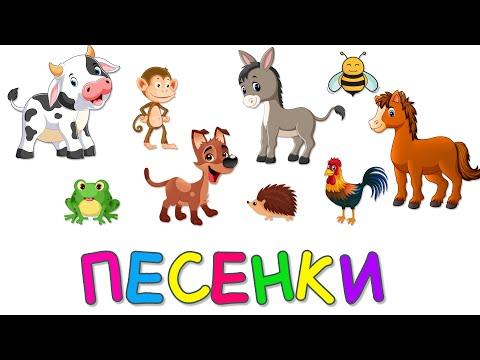 СБОРНИК Песенки для Детей УЧИМ ЖИВОТНЫХ Развивающие мультики для детей малышей