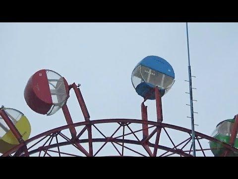 台風10号 観覧車ゴンドラが強風で回転 高松市