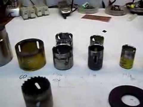 c69abb10a90 Sacabocados hechos de herramientas de corte reciclados - YouTube
