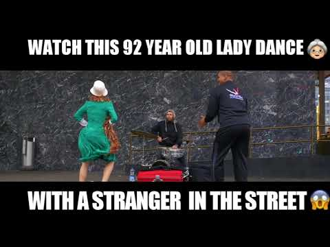 Watch this 92 year old lady get down in the street of Helsinki...