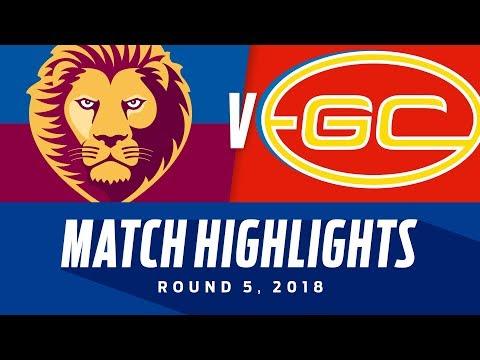 Brisbane v Gold Coast Highlights - Round 5 2018 - AFL
