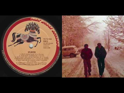 Splinter - Christmas Time Feeling lyrics - Dark Horse Records promo LP