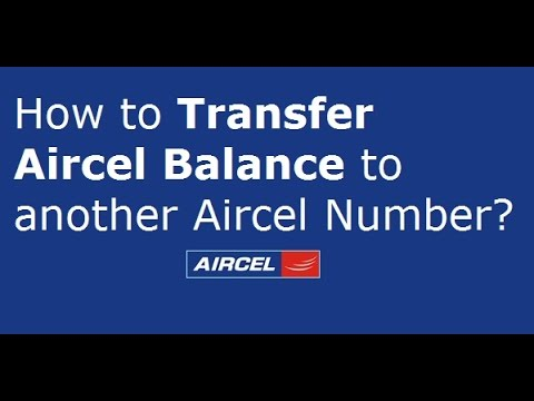 Transfer Main balance From AIRCEL to AIRCEL