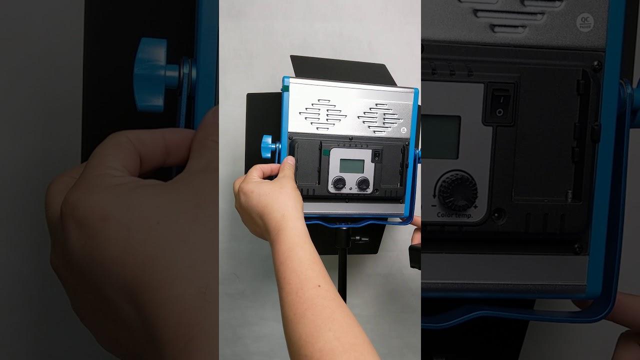 HOLGA HL600A可調色溫可調亮度可裝鋰電池可外拍高顯色高演色CRI95 TLCI97.4 60w超大亮度LED攝影燈 持續燈 常亮燈 外 ...
