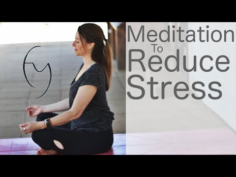 12 Minute Meditation to Reduce Stress Yoga With Fightmaster Yoga