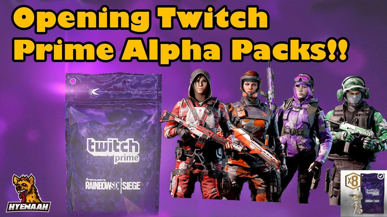 Opening Twitch Prime Alpha Packs!! Operation Grim Sky - Rainbow Six