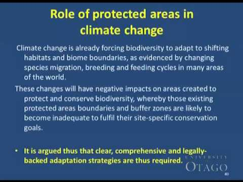 Climate Change, Biodiversity and Protected Areas: The Need for an Integrated Approach