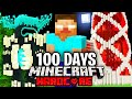 I Survived 100 Days as HEROBRINE in Hardcore Minecraft.. Here's What Happened..
