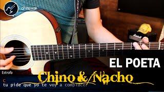 Como tocar El Poeta CHINO Y NACHO en Guitarra Acústica | Tutorial Acordes