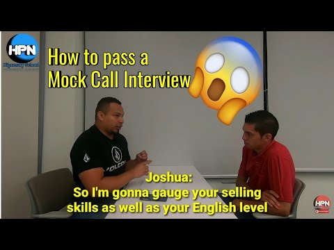 Mock Call /job Interview