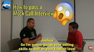 Mock call /job interview