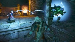Geralt and Keira Defeat Golem in Dungeons (Witcher 3 | Boss Fight)