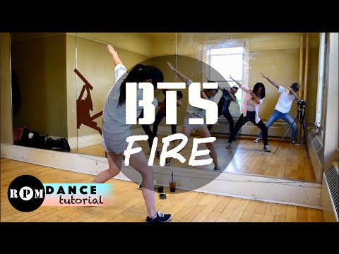 "BTS ""Fire"" Dance Tutorial (Intro, Chorus, Quickstep)"