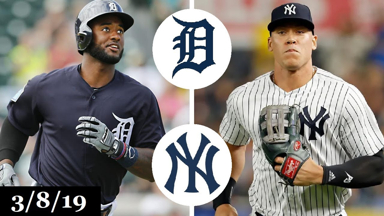 822c614ecb1dc8 Detroit Tigers vs New York Yankees Highlights | March 8, 2019 | Spring  Training