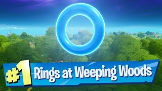 Collect Floating Rings at Weeping Woods Location - Fortnite Battle Royale