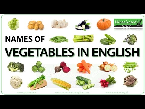 Vegetables - English Vocabulary List and Chart with Photos