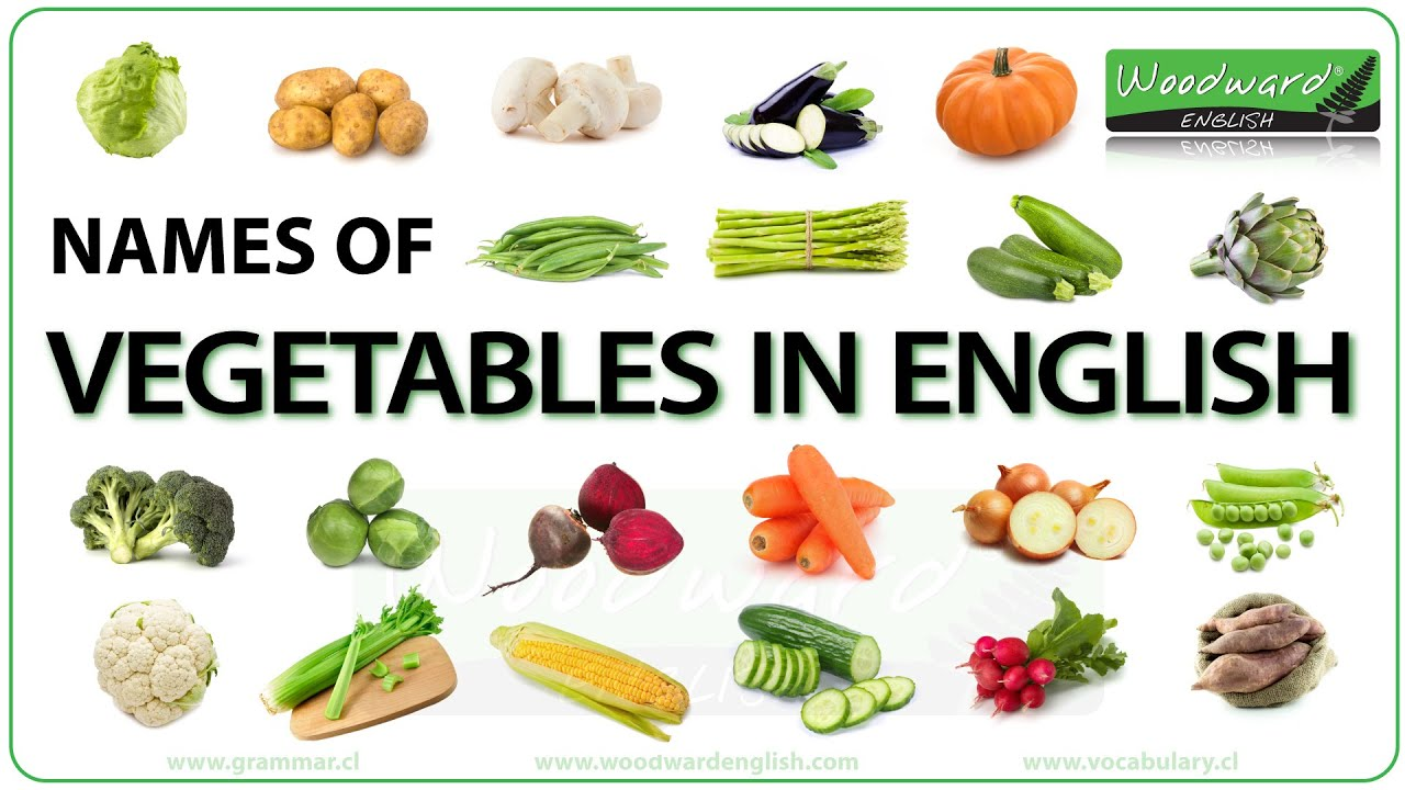 Vegetables in English - YouTube