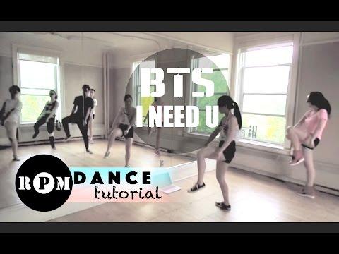 "BTS ""I Need U"" Dance Tutorial (Chorus)"