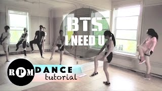 "BTS ""I Need U"" Dance Tutorial (Chorus)"