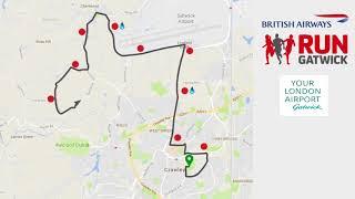 British Airways Run Gatwick International Half Marathon route