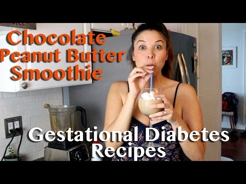 Chocolate Peanut Butter Smoothie -Gestational Diabetes Recipes